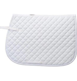 Weaver Quilted English Saddle Pad, White