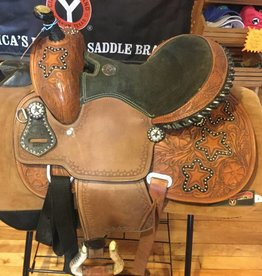 Showman Double T Youth/Pony Saddle, w/String Girth - 13""