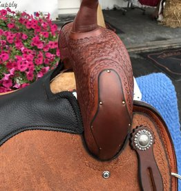 """Circle L 15"""" Roughout All Around Saddle, Rope Boarder Tooling"""