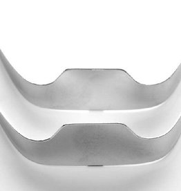 Western Express Square Toe Silver Toe Tips - Smooth Silver
