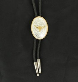M & F Western Products Bolo Tie - Oval Longhorn