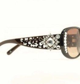 M & F Western Products Sunglasses - Blk Cutout w/Dia Crystal