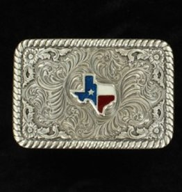 M & F Western Products Belt Buckle  - Rectangle Texas