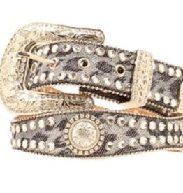 M & F Western Products Adult Belt - Scallop Crystal Concho