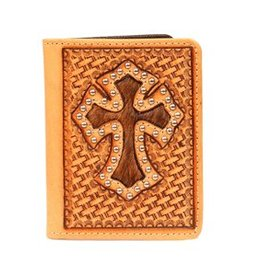 Nocona Wallet - Bifold Basket Hair Cross