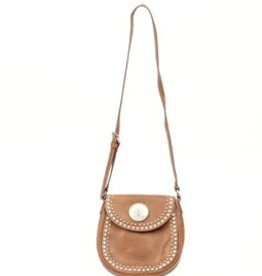 M & F Handbag - Brown Small Biker