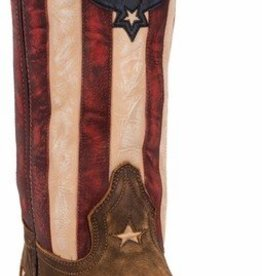 Laredo Women's Laredo Tan Stars & Stripes Western Boot