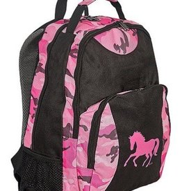 AWST International Backpack - Pink Camo w/ Galloping Horse