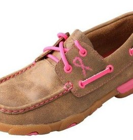 Twisted X, Inc Women's Twisted X Driving Moccasins Neon Pink
