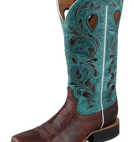 Twisted X, Inc Women's Twisted X Ruff Stock Boots Chocolate & Turquoise 8 C - Reg $219.95 now 25% OFF!