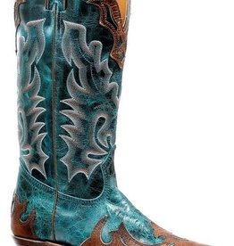 Boulet Western Boots INC. Women's Boulet Fancy Snip Toe Turquoise Boot - Proudly Canadian!