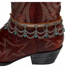 Cowgirl Confetti Boot Chain - Desert Drop, Turquoise