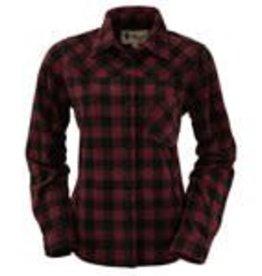 Outback Trading Company LTD Ladies Fleece Big Shirt - Wine