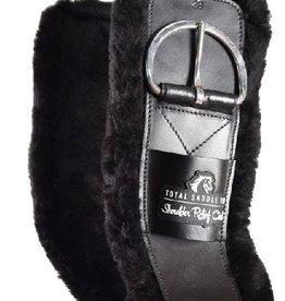 Total Saddle Fit Shoulder Relief Cinch, Black - Fleece