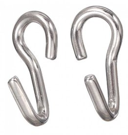 Intrepid International Curb Chain Hooks SS Pair