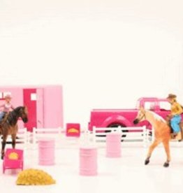M & F Truck and Trailer Barrel Horse Toy Set - Bigtime Rodeo