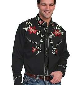 Scully Sportswear, INC Men's Scully Floral Embroidered Shirt