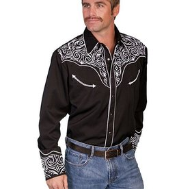 Scully Sportswear, INC Men's Scully Embroidered Scroll Shirt - 3X
