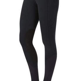 Kerrits Women's Kerrits Sit Tight Windpro Kneepatch Tights, Black