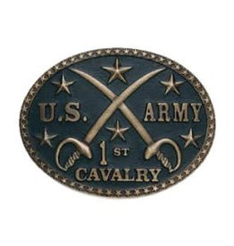 Antique Brass US Army 1st Cavalry