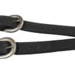 Showman Western Leather Spur Straps - Black