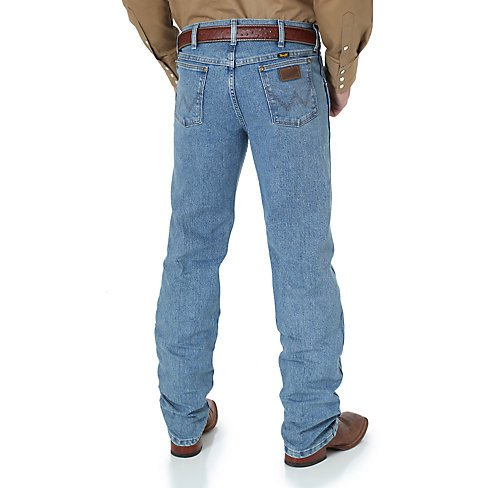 Wrangler Men's Wrangler Premium Performance Advanced Comfort Cowboy Cut Regular Fit Jeans - Stone Bleach