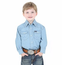 Wrangler Children's Wrangler Cowboy Cut Western Snap Shirt - Denim
