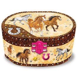 GT Reid Musical Jewelry Box - Galloping Horses