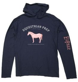 Stirrups Preppy Fabric Horse Hooded T-Shirt