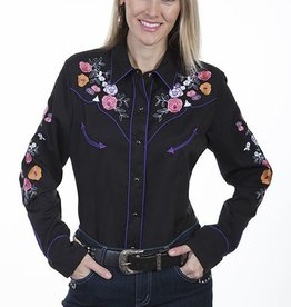 Scully Sportswear, INC Women's Scully Colorful Floral Embroidered Western Shirt