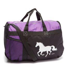 AWST International Duffle Bag Purple - Galloping Horse