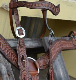 Alamo Wave Browband Headstall w/ Wave Tooling