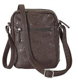 AWST International Handbag - Cross Body w/Debossed Lila Horses