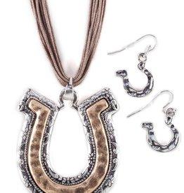 Set - Necklace/Earrings - Horseshoe