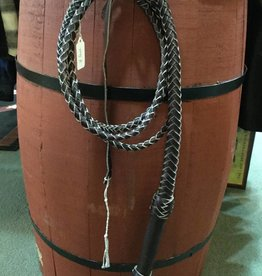 Lamprey 7 Foot Braided Leather Bull Whip