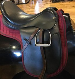 "Stateline 18"" Cambridge Dressage Saddle Med. Gullet - Comes w/Leathers & Irons"