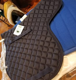 PRI PRI Cotton Pebble Grip Contour Saddle Pad - A/P Navy