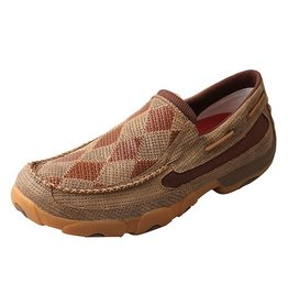 Twisted X, Inc Men's Twisted X Driving Mocs, Slip On, Bomber Patch