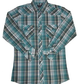 White Horse White Horse Men's Plaid Shirt Forest - Small (Reg $42 NOW 30% OFF!)