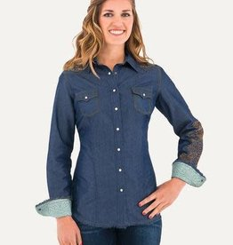 Noble Outfitters Women's Noble Rock and Roll Denim Shirt