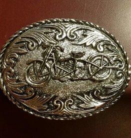 Rockmount Motorcycle Belt Buckle Silver Bike