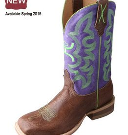 "Twisted X, Inc Women's Twisted X Hooey 11"" Boot Brown/Purple 8.5 B (REG 239.95 NOW 30% OFF)"