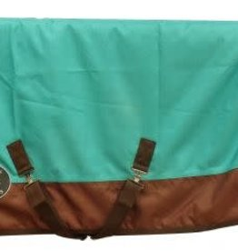 "Showman Showman Pony/Yearling 48""-54"" 1200D Turnout Heavy Blanket - Teal/Brown"
