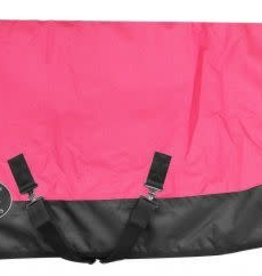 "Showman Showman Pony/Yearling 42""-46"" 1200D Turnout Heavy Blanket - Pink/Black"