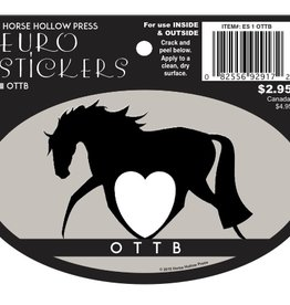 Horse Hollow Press Stickers - Euro Oval Equestrian