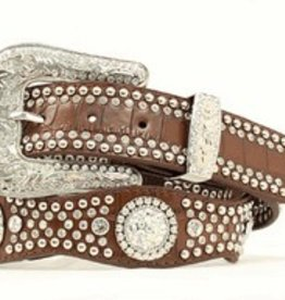 Nocona Adult Nocona Scalloped Brown Croc Belt