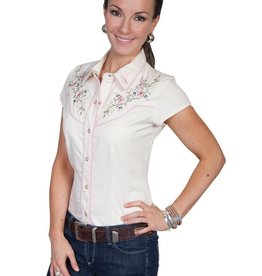 Scully Sportswear, INC Women's Scully Capsleeve Shirt, Cream Medium - SALE $25