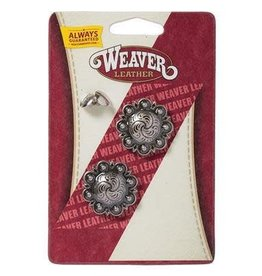 """Weaver Leather Company Antique Silver Berry Concho with Post - 1-1/4"""""""