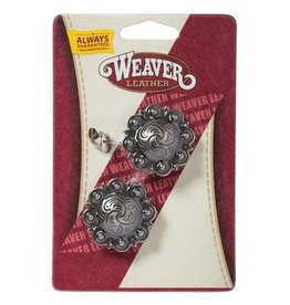 """Weaver Leather Company Antique Silver Berry Concho with Post - 1-1/2"""""""