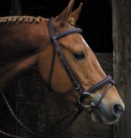 Smith Worthington Saddlery Signature Raised Padded Bridle, Havana - Cob (Reg Price $139.95 NOW 40% OFF)